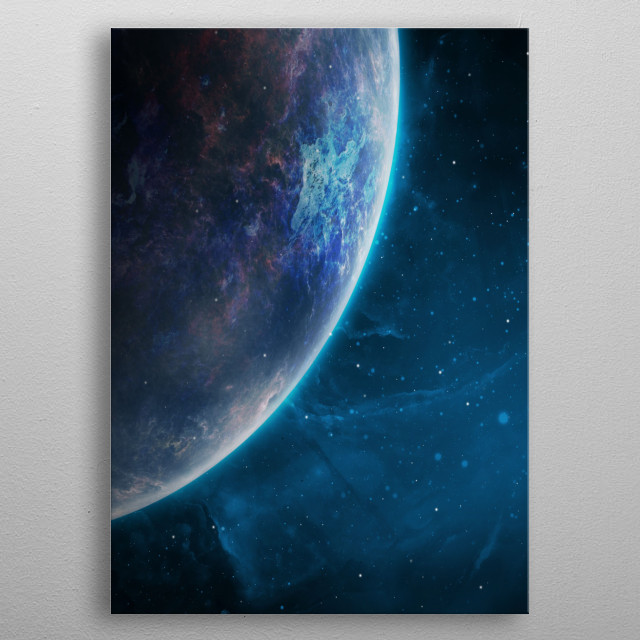 Edge of the Forgotten Planet.  metal poster