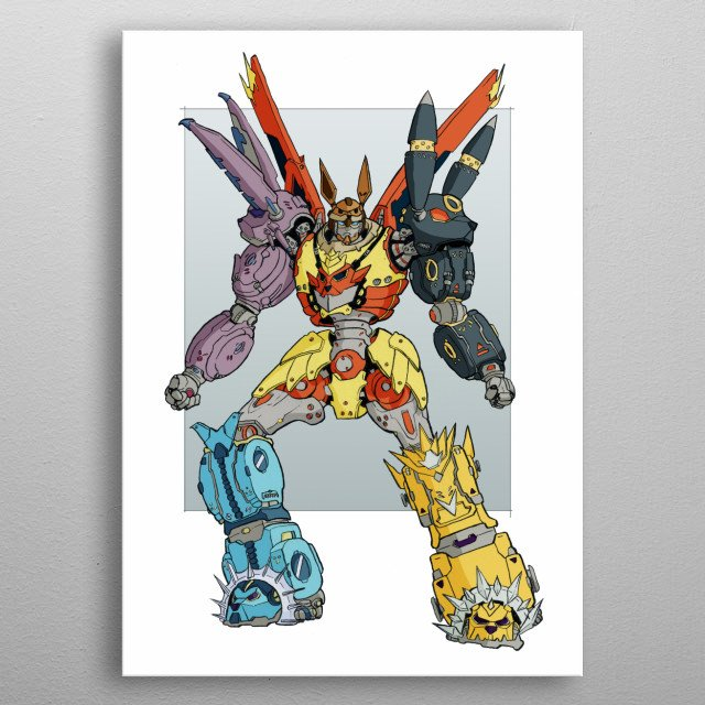 The might eeveelution robots combine to form the greatest protector the world has ever seen. metal poster