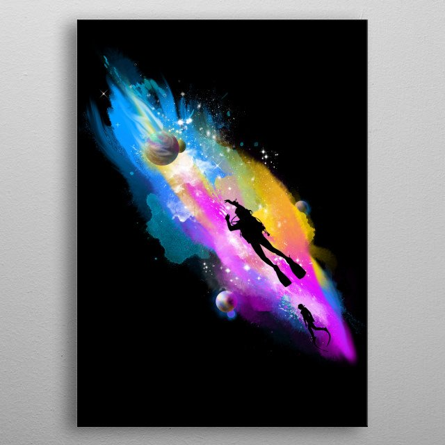 space sport metal poster