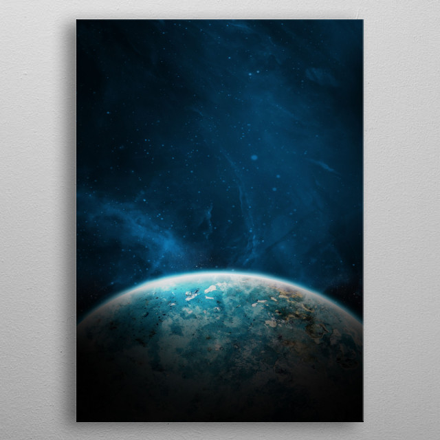 Above The Planet. metal poster