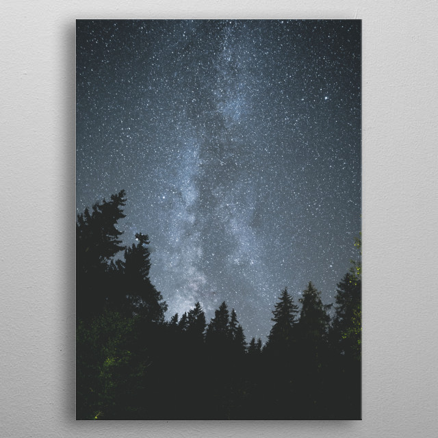Chasing the Milky Way. metal poster