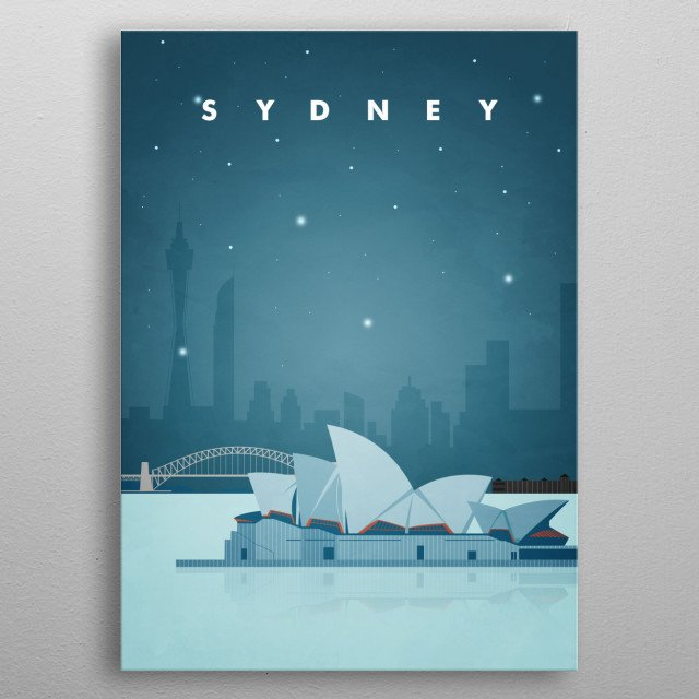 Sydney Travel Poster metal poster