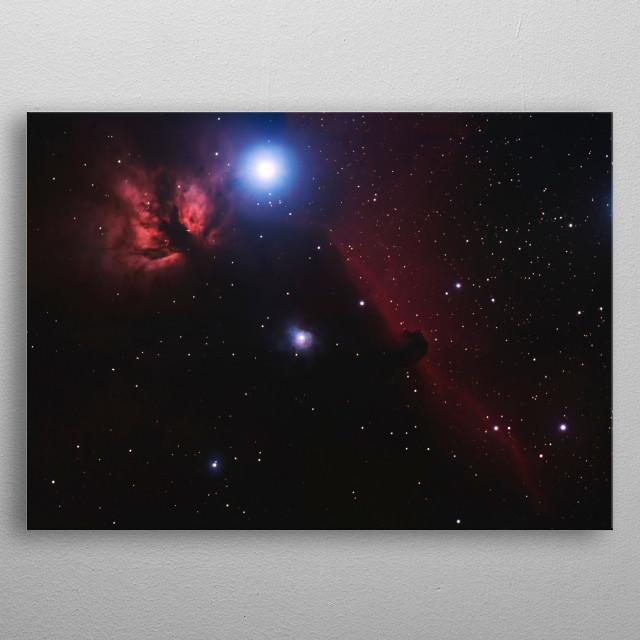 horsehead & flame nebula metal poster