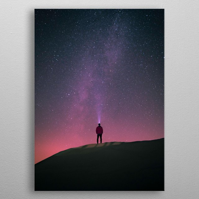 Watching The Milky Way during the perfect night sky. metal poster