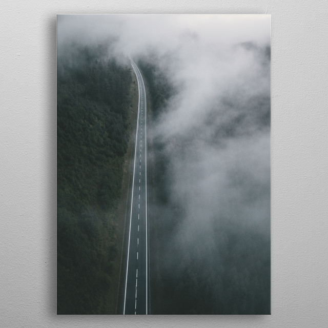 One of my favorite photos from a spontaneous road trip to the Praded Mountain in the Czech Republic. metal poster