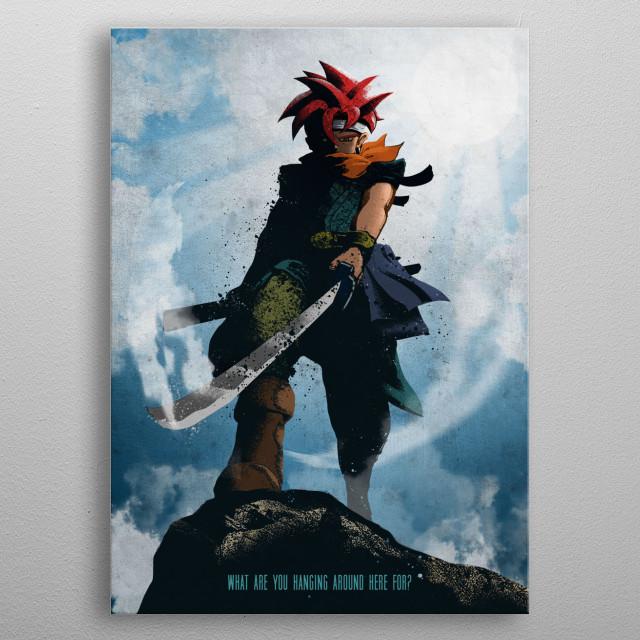 A time-travelling adventurer metal poster