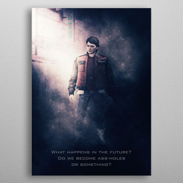 Marty McFly tagline metal poster