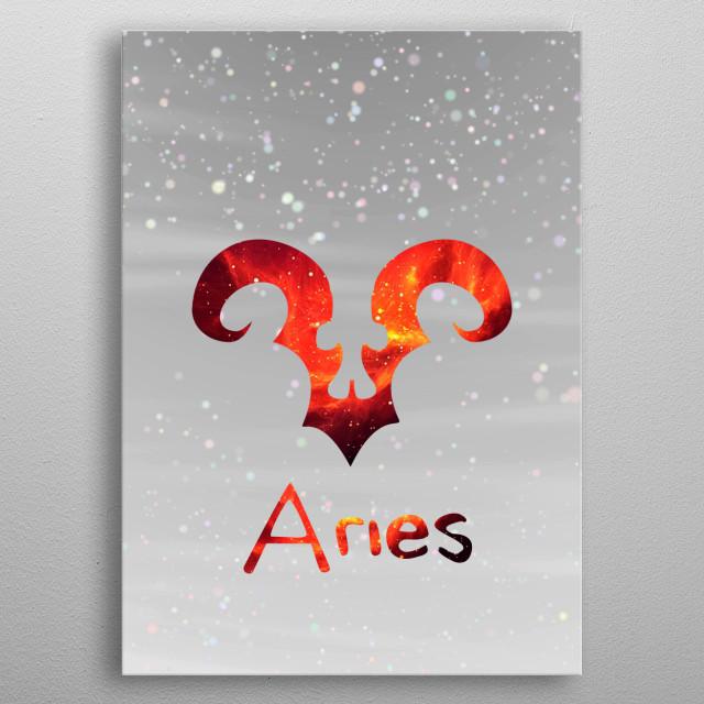 Zodiacal Aries.  metal poster