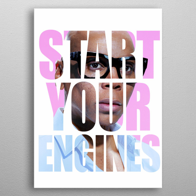 Start your engines metal poster