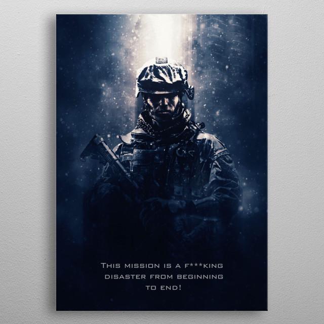 Battlefield Tagline metal poster