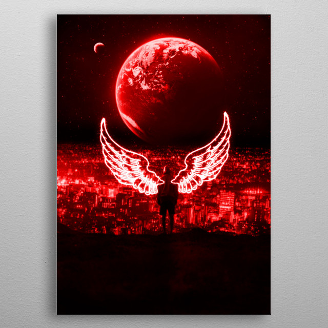 new world red wings metal poster