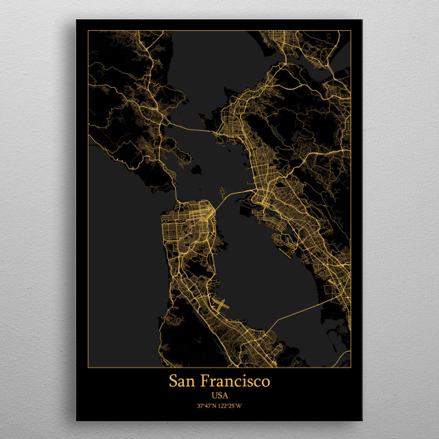 San Francisco  USA metal poster