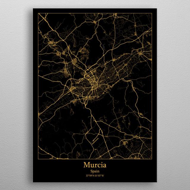 Murcia  Spain metal poster