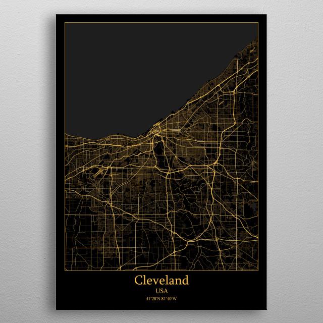 Cleveland  USA metal poster