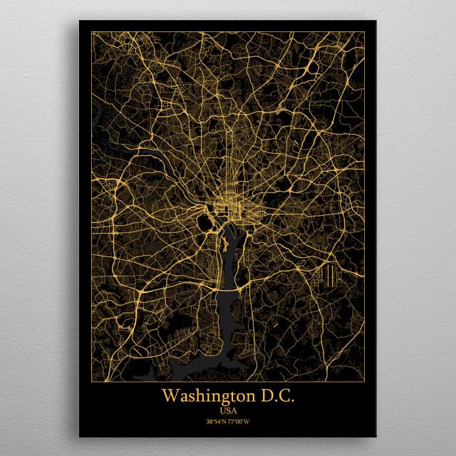 Washington D.C.  USA metal poster