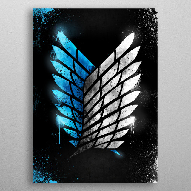Wings of Freedom • 2D Version metal poster