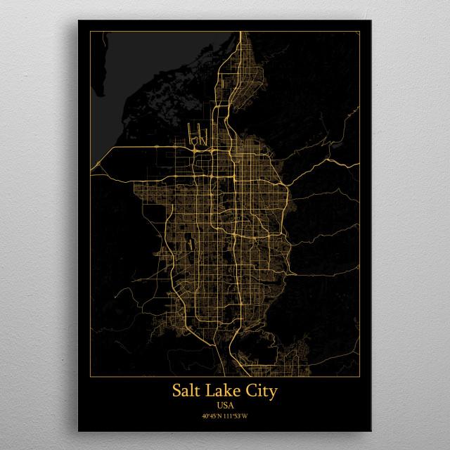 Salt Lake City  USA metal poster