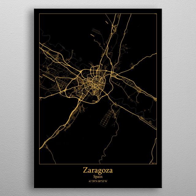 Zaragoza  Spain metal poster
