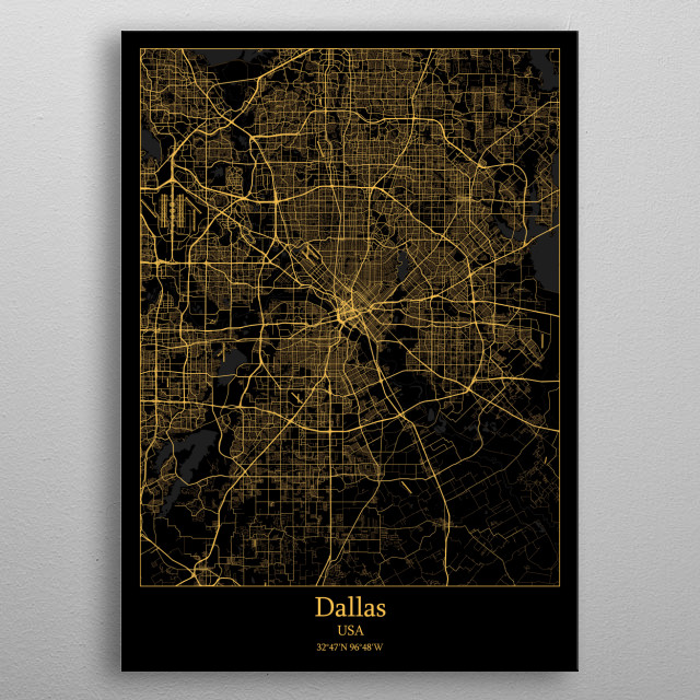 Dallas  USA metal poster