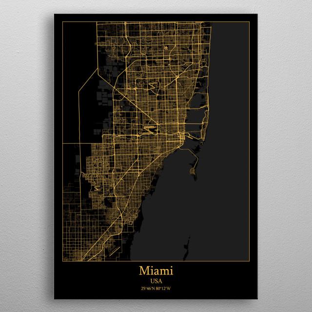 Miami  USA metal poster