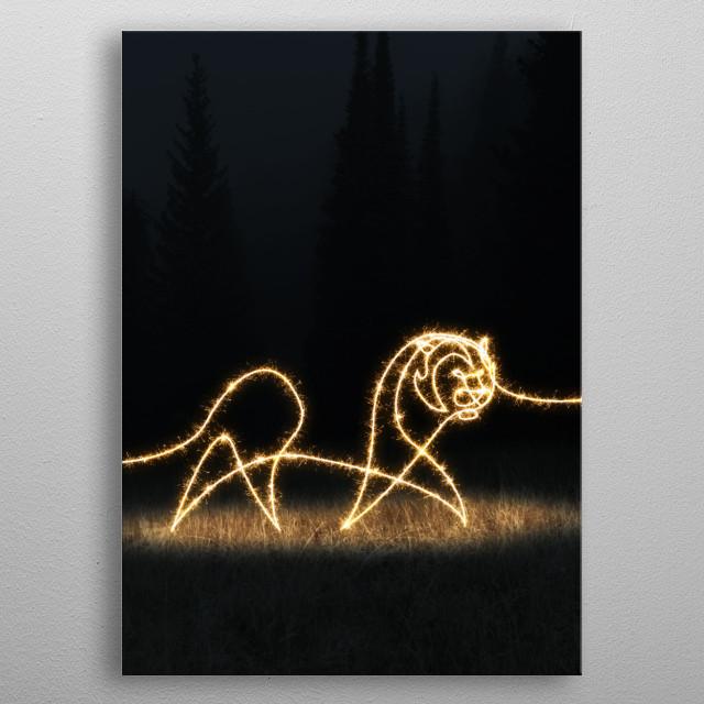 sparkling tiger metal poster