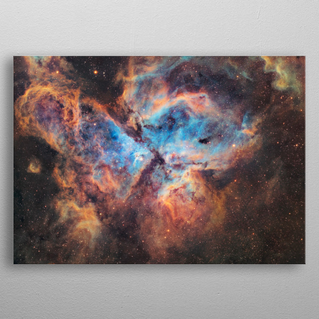 Eta Carinae is a stellar system located around 7,500 light-years distant in the constellation Carina. metal poster
