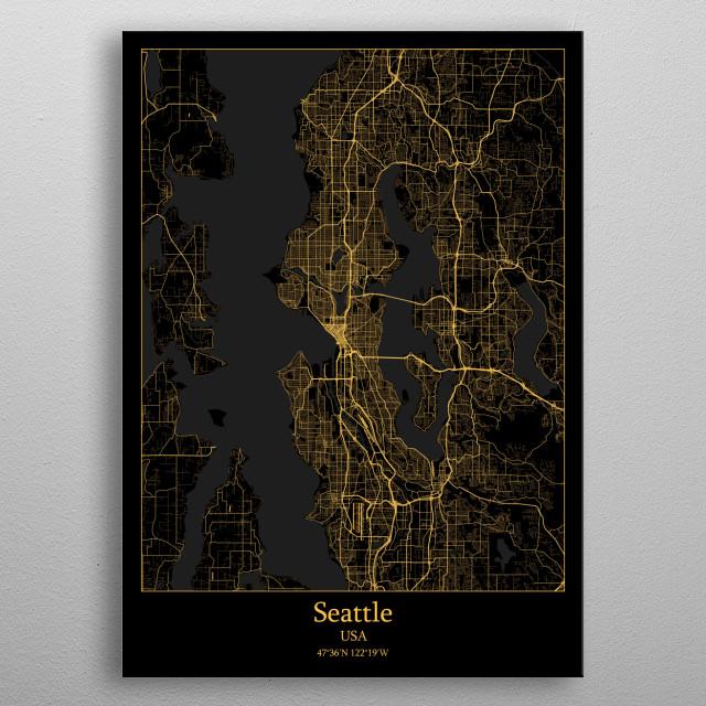 Seattle  USA metal poster