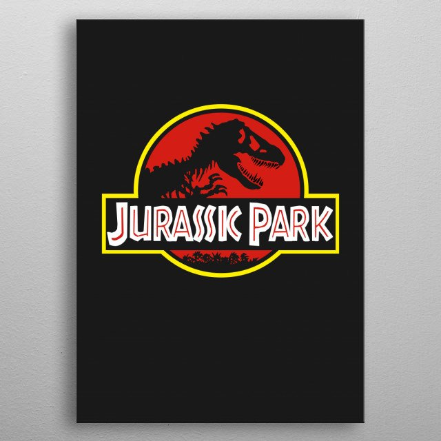 Icon of the film Jurassic Park metal poster