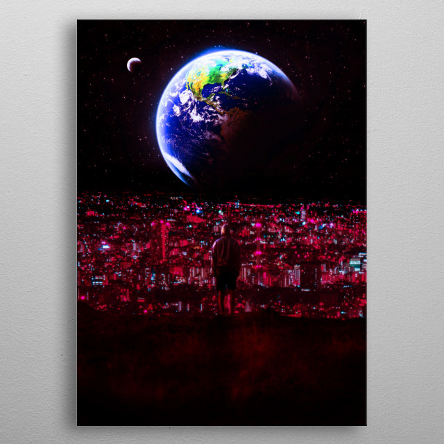 new red planet metal poster