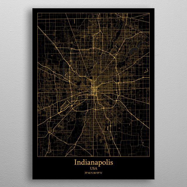 Indianapolis  USA metal poster