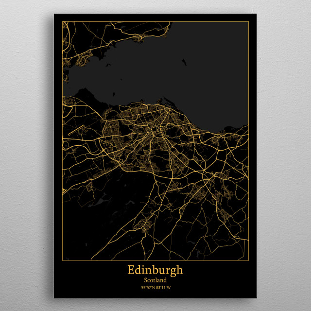 Edinburgh  Scotland metal poster