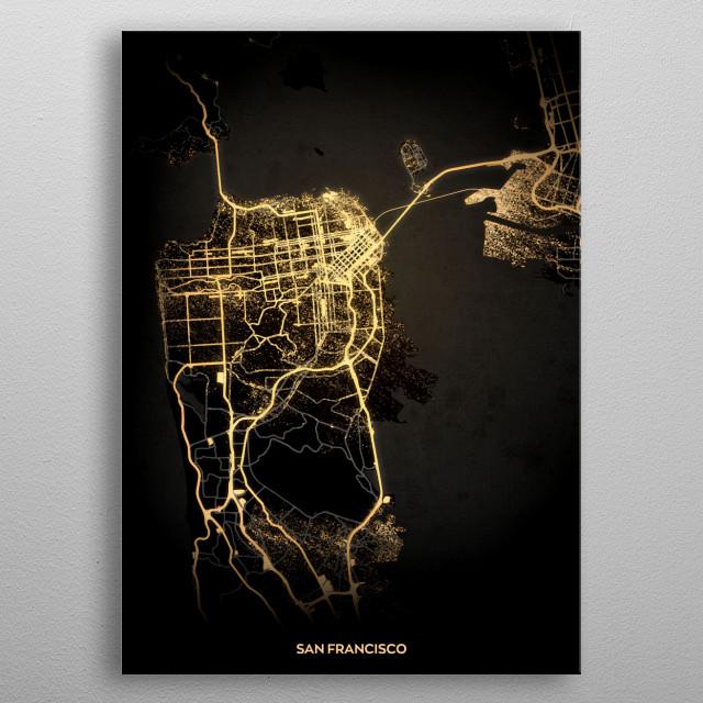 San Francisco Maps Poster Print | metal posters - Displate on napa city street map, snohomish city street map, inglewood city street map, porterville city street map, irvine city street map, jackson city street map, new haven city street map, ithaca city street map, johannesburg city street map, springfield city street map, san pablo city street map, aurora city street map, tacoma city street map, austin city street map, wichita city street map, madison city street map, santa clara county street map, medford city street map, billings city street map, flagstaff city street map,