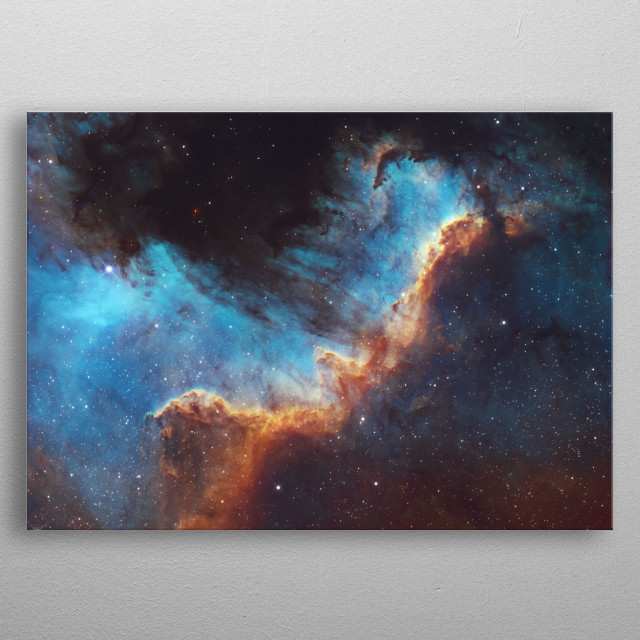 The North America Nebula (NGC 7000 or Caldwell 20) is an emission nebula in the constellation Cygnus. metal poster