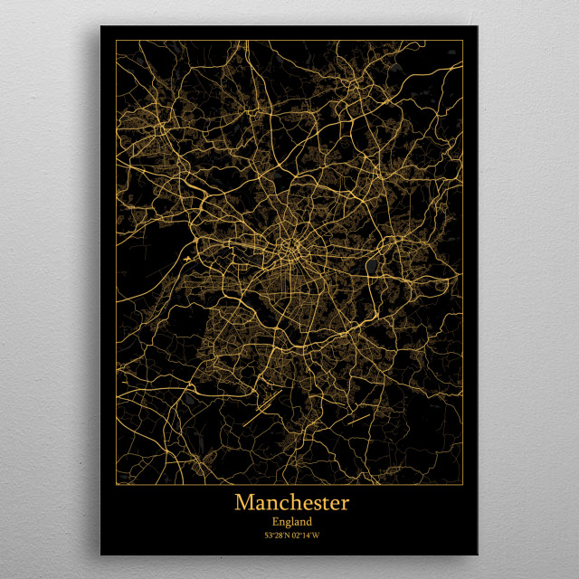 Manchester  England metal poster