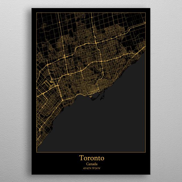 Toronto  Canada metal poster