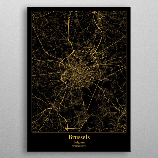Brussels  Belgium metal poster