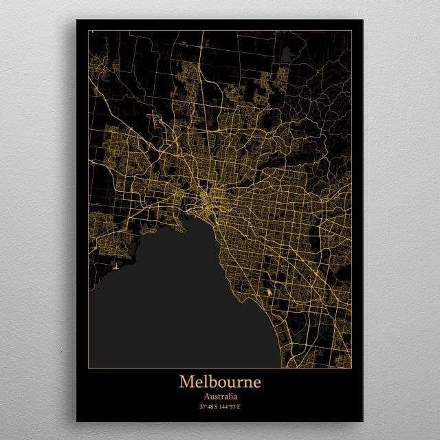 Melbourne  Australia metal poster