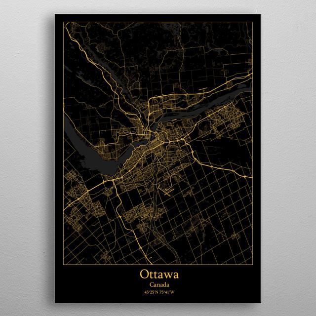Ottawa  Canada metal poster