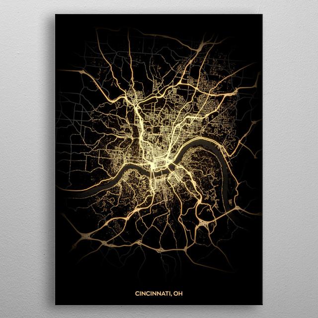 Cincinnati, OH metal poster