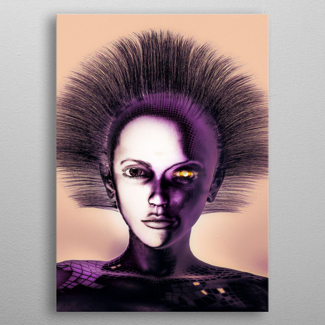 Beautiful and seductive with a voice like the mythical sirens. Each day we hand over more to control to our virtual personal assistant. metal poster