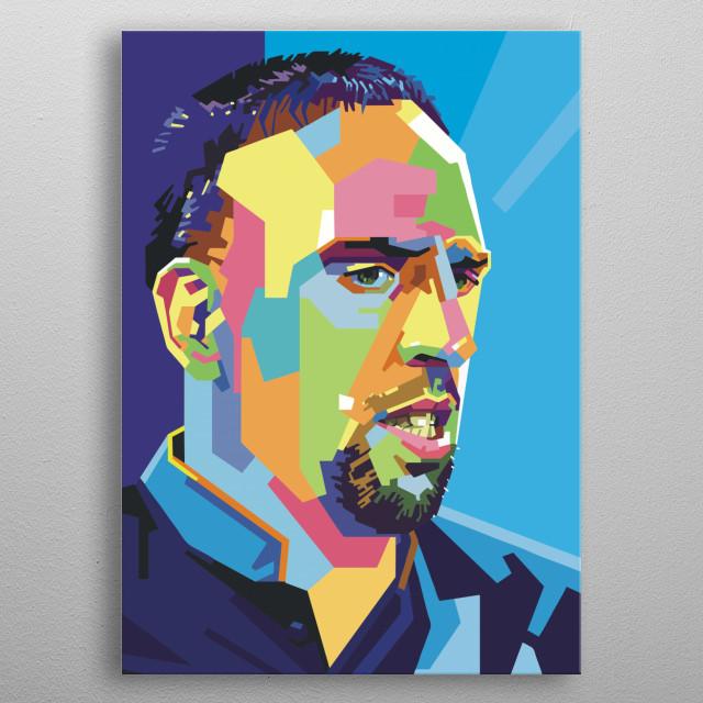 Franck Ribery metal poster