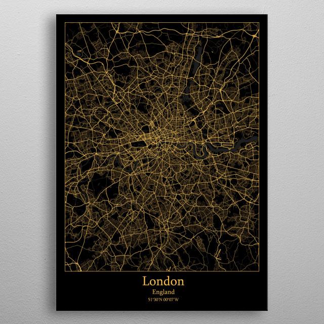London  England metal poster