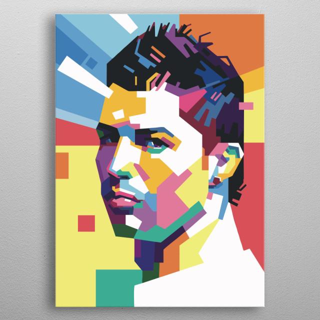Cristiano Ronaldo metal poster