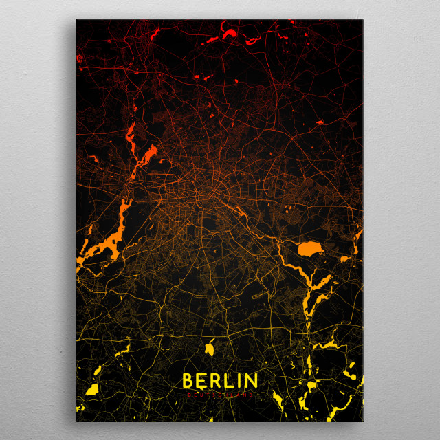 Berlin map Special Edition metal poster
