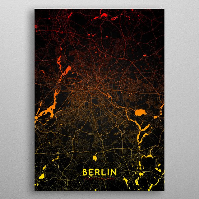 This marvelous metal poster designed by mapsies to add authenticity to your place. Display your passion to the whole world. metal poster