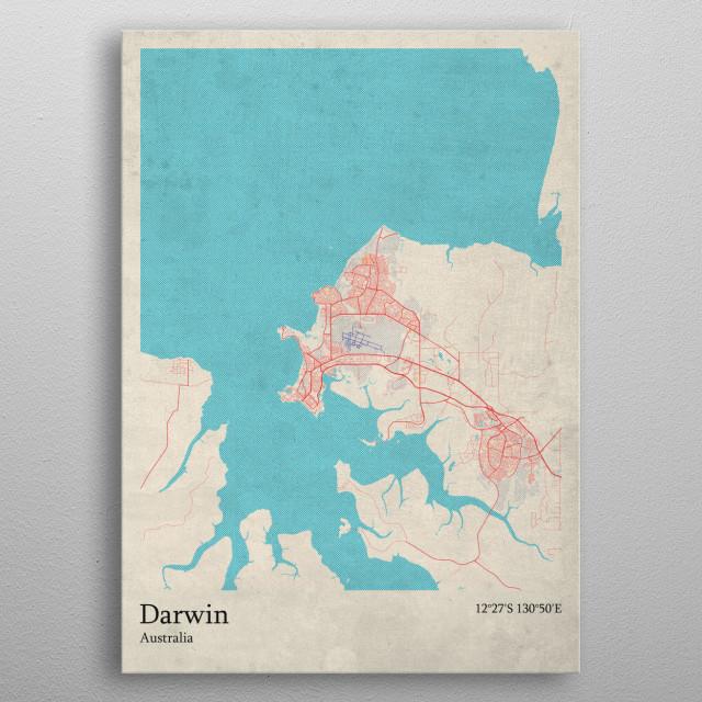 Darwin  Australia metal poster