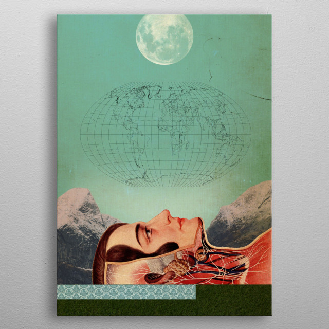 Fascinating metal poster designed by elo marc. Displate has a unique signature and hologram on the back to add authenticity to each design. metal poster