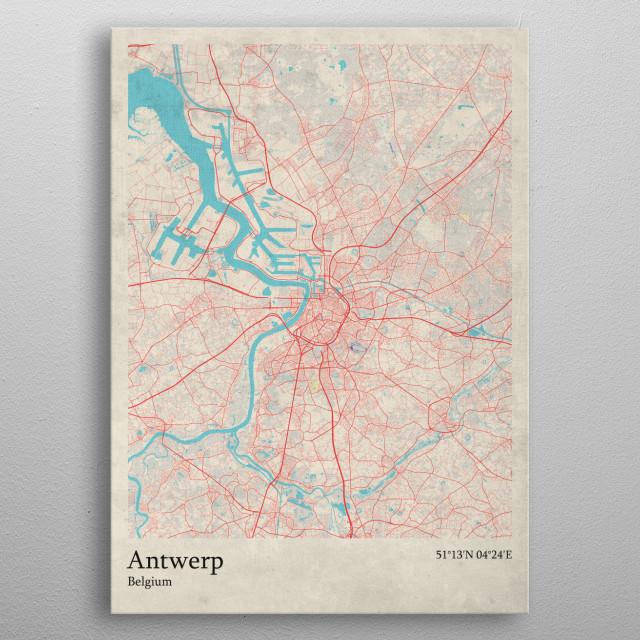 Antwerp  Belgium metal poster