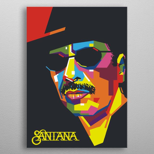 Santana metal poster