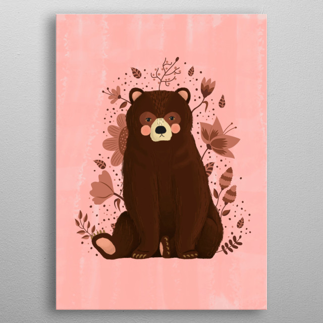 Bruno, the bear metal poster